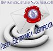 """immagine busta postale, logo Federico II e scritta """"Posta Elettronica Certificata"""""""